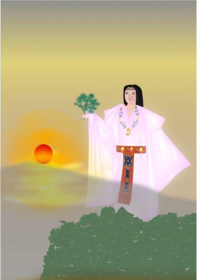 奈良まほろばかるた原画『卑弥呼幻想』