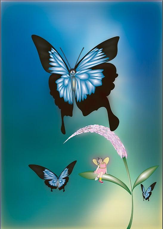 『幸せを運ぶ蝶オオルリアゲハ』